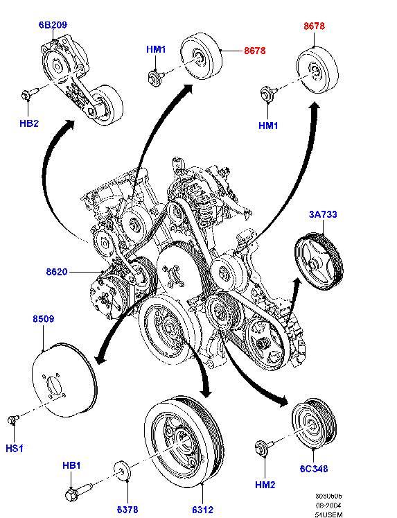 Ролик промежуточный приводного ремня верхний артикул - F080152