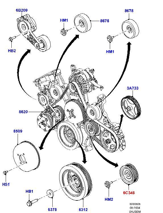 Ролик промежуточный приводного ремня нижний артикул - F080153