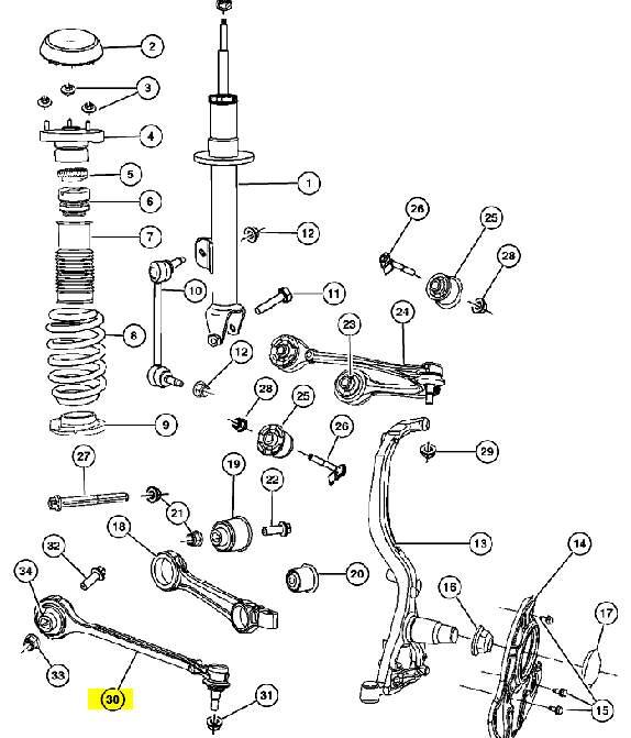 Рычаг передний нижний продольный левый артикул - C020642