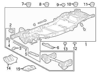 15201791 GM<br>Подушка рамы нижняя