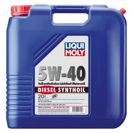 купить шины LIQUI MOLY Diesel Synthoil  SAE 5W-40 по лучшей цене в интернет магазине Академия Плюс