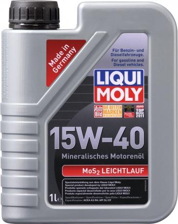 купить шины LIQUI MOLY MoS2 Leichtlauf  SAE 15W-40 по лучшей цене в интернет магазине Академия Плюс